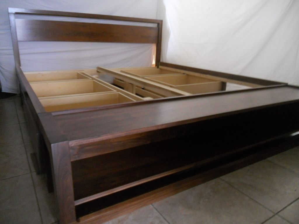 King Size Bed Frame With Drawers Custom Made King Size Bed Frame