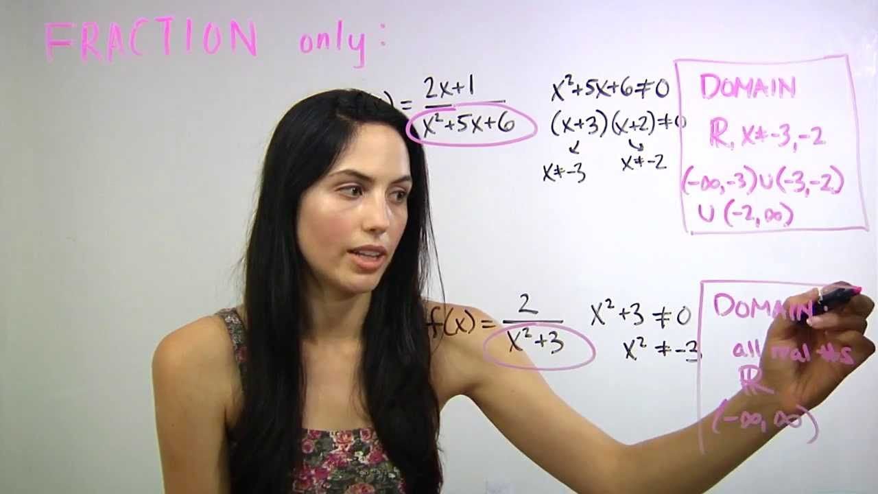 ² How to Find the Domain of Any Function (mathbff