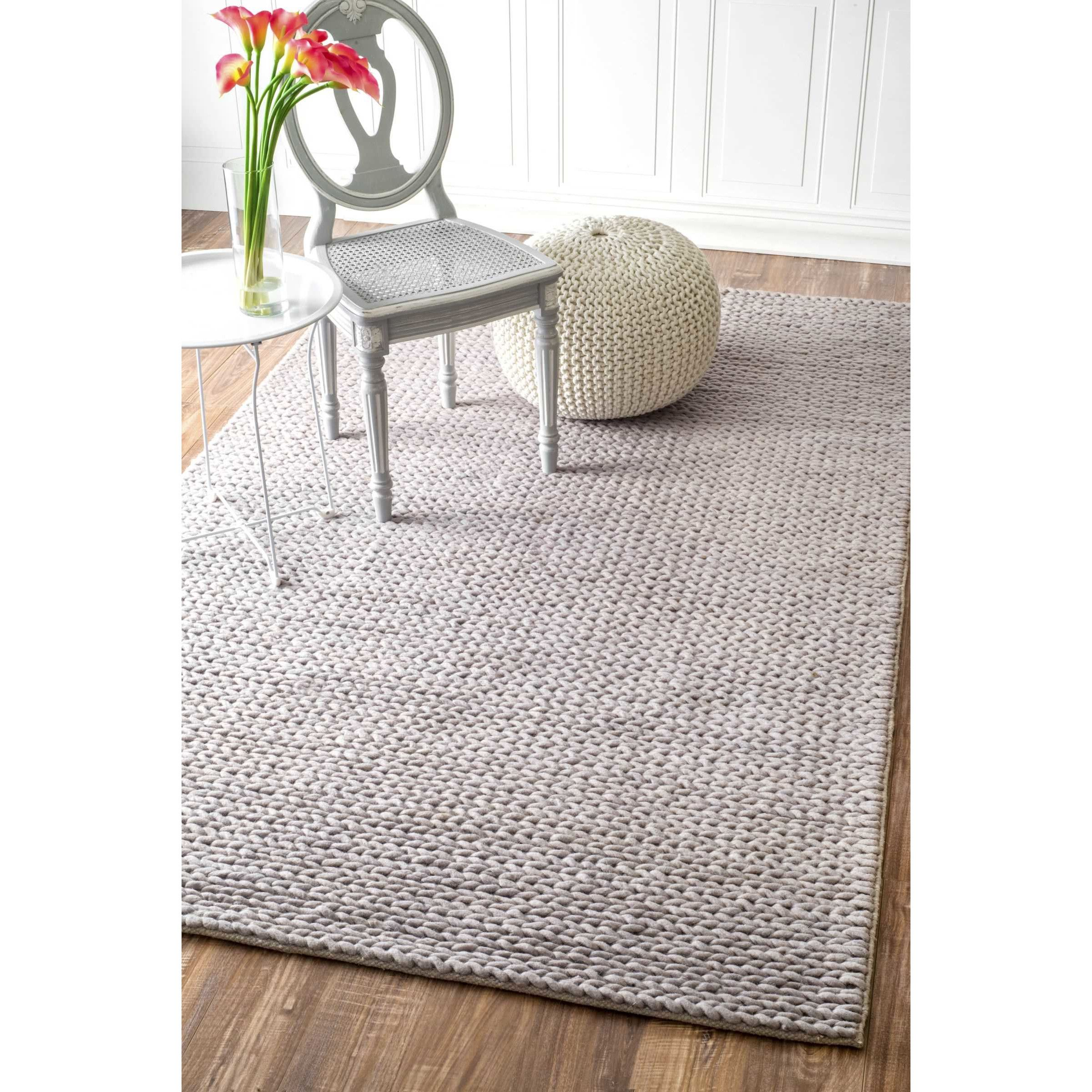 Youu0027ll Love The Touchstone Woolen Cable Light Gray Area Rug At Wayfair    Great
