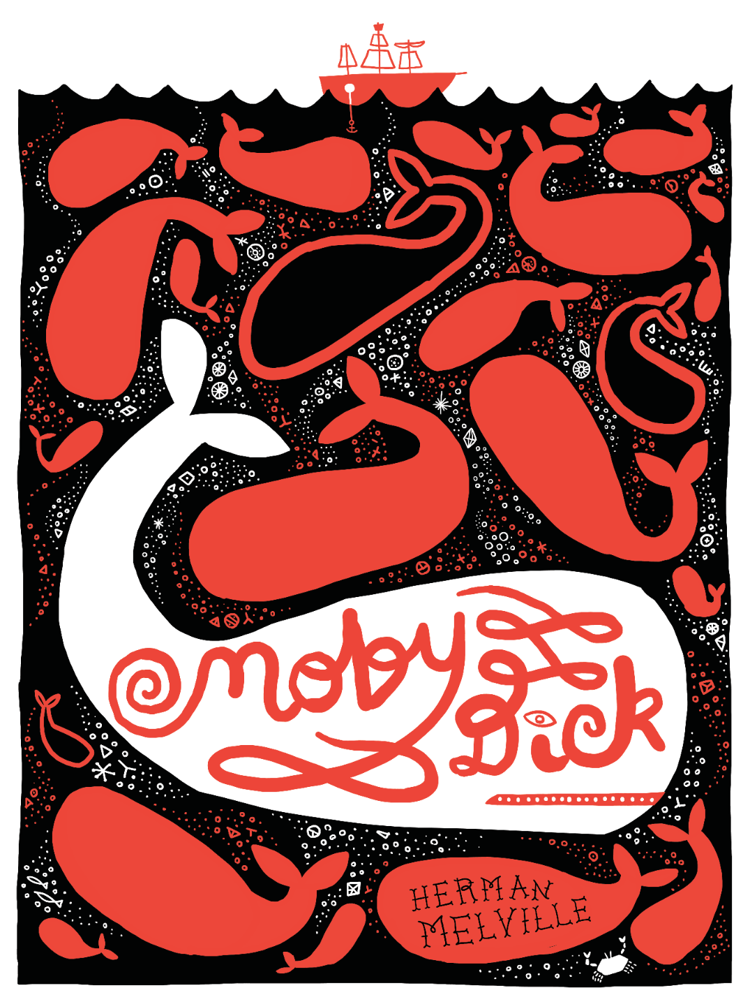 Image result for moby dick book cover