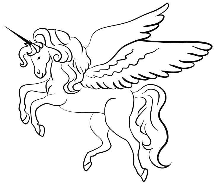 Omalovanka Obrazek Jednorozec Pohadky K Vytisknuti Pro Deti K Vybarveni Zdarma Online Ke Stazeni A Unicorn Coloring Pages Coloring Pages Unicorn Images