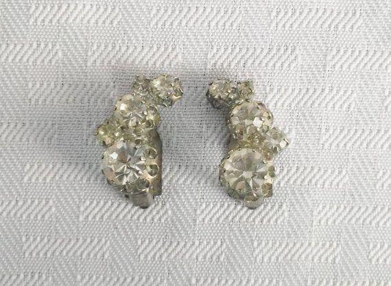 KRISTALLPRINZESSIN earrings vintage antique glass romantic nostalgic bronze antique antique brass romantic wedding vintage style earrings