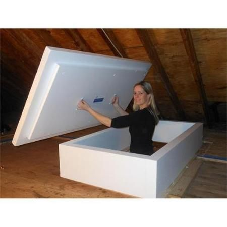 The Energy Guardian R 20 Attic Entryway Opening Insulation Cover Pull Down Ladder Walmart Com Attic Renovation Attic Storage Building A House