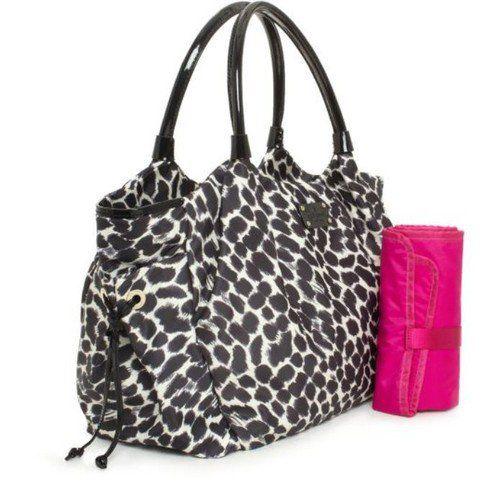 My Babiie Black Leopard Changing Bag