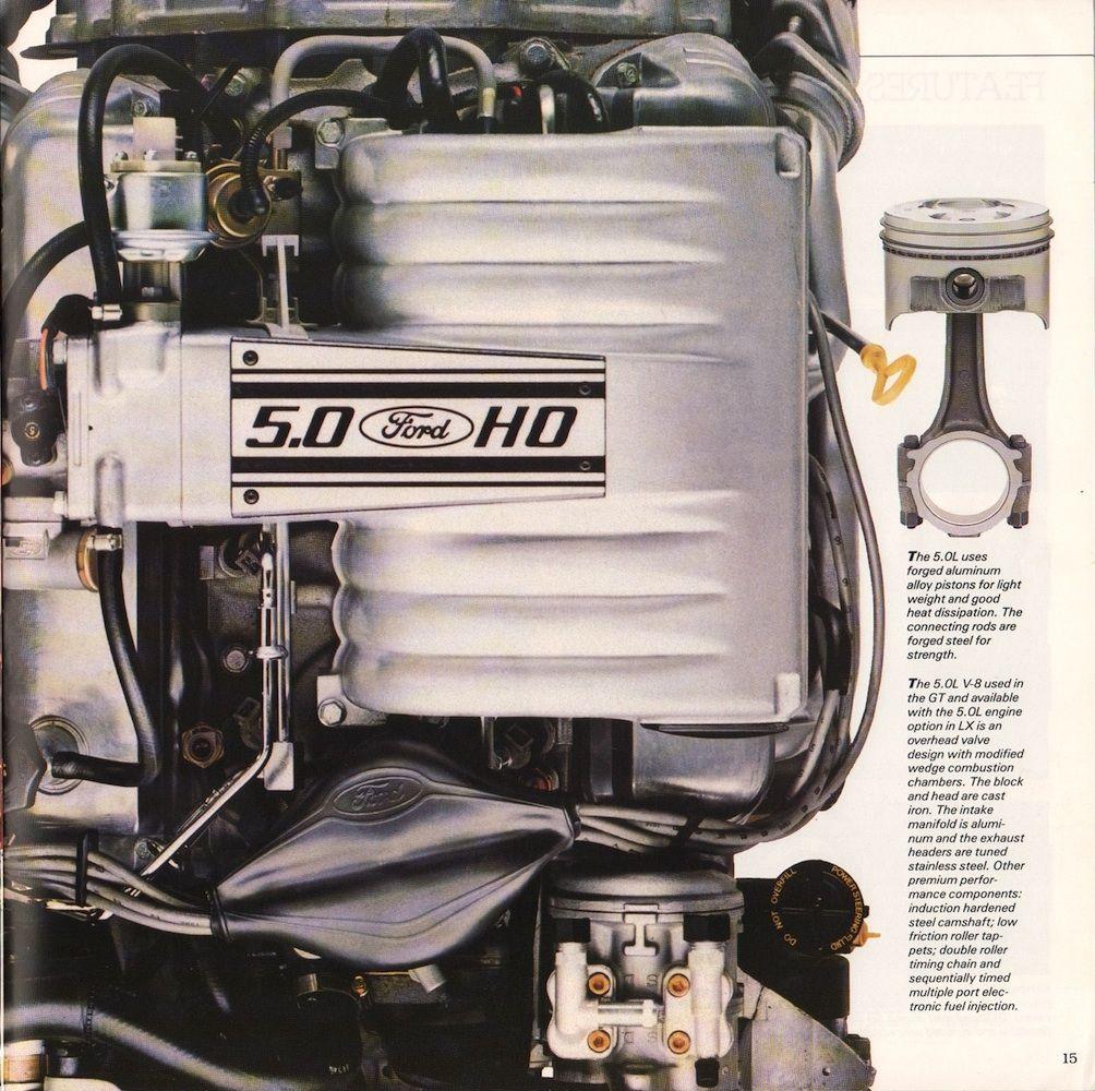Ford 1988 Mustang Sales Brochure Mustang Engine Mustang Fox Body Mustang