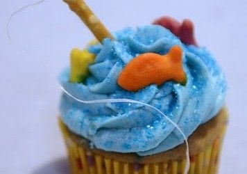 Cute fisherman cupcake