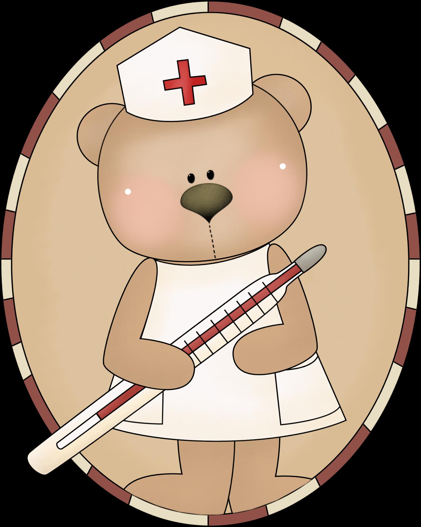 Osita Enfermera Enfermera Dia De La Enfermera Dibujo Tiernos
