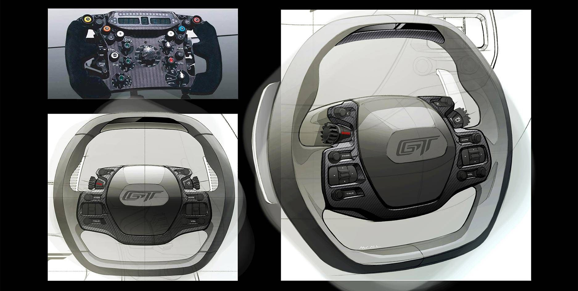 Racing Inspired Stalkless Steering Wheel Ford Gt Ford Sports