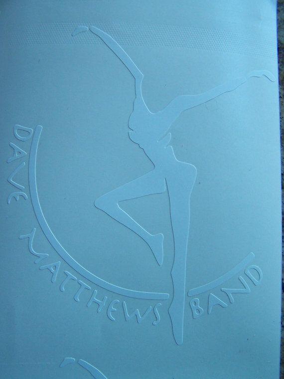 DMB Dave Matthews Band Firedancer White Vinyl Decal by nockonwood, $3.00