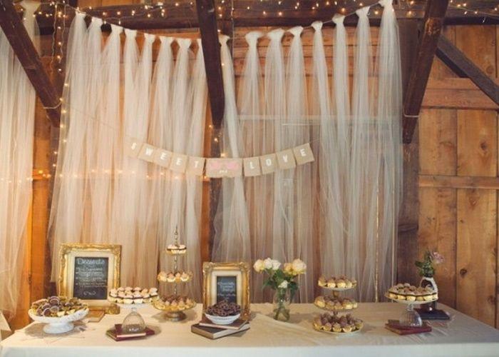 Mesa de doces estilo r stico mini tortas mini bolos e - Cortinas estilo rustico ...