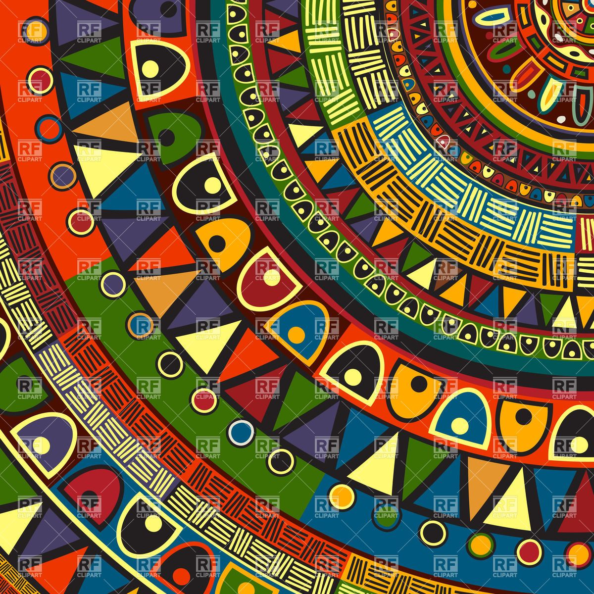 colored tribal design, abstract art, 30656, backgrounds