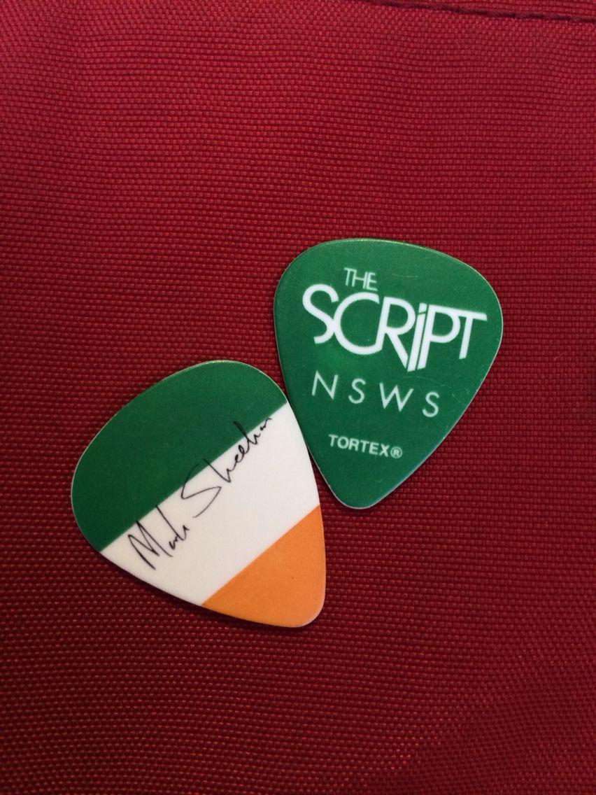 Mark Sheehans Guitar Pick The Script No Sound Without Silence Tour Manila
