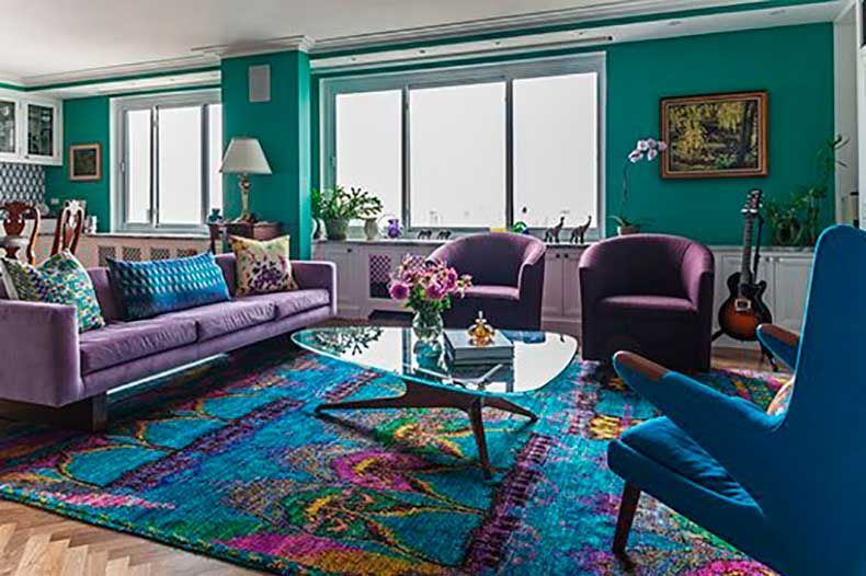Image result for blue and purple living room ideas