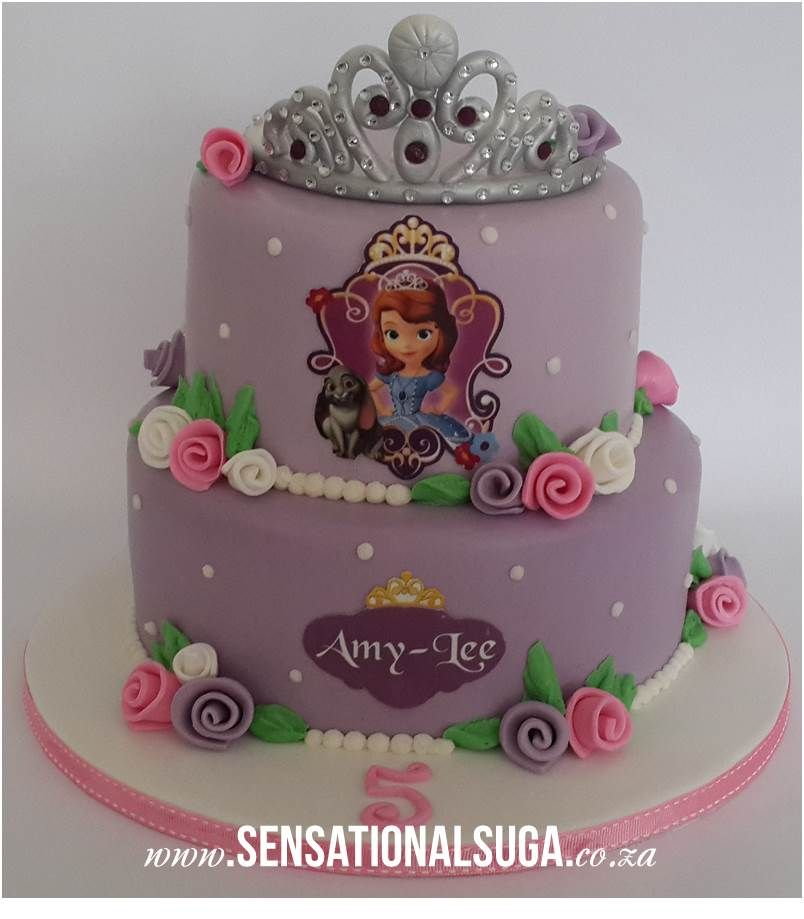 princess sofia cake Princess Sofia the First Cake with 3D Tiara