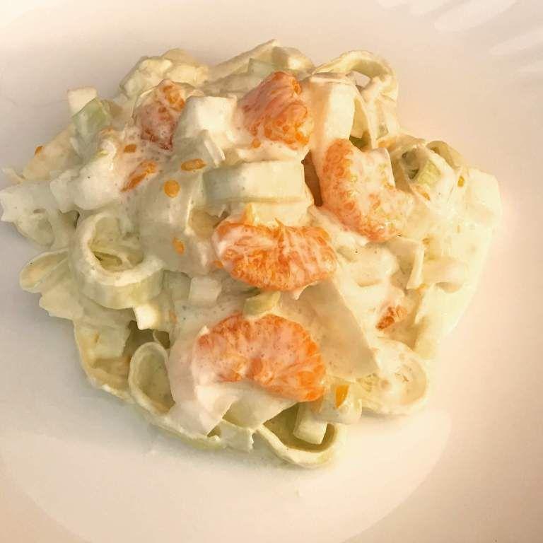 Einfach und Lecker - Porree Salat mit Apfel und Mandarinen - Zu Faul Zum Kochen ?