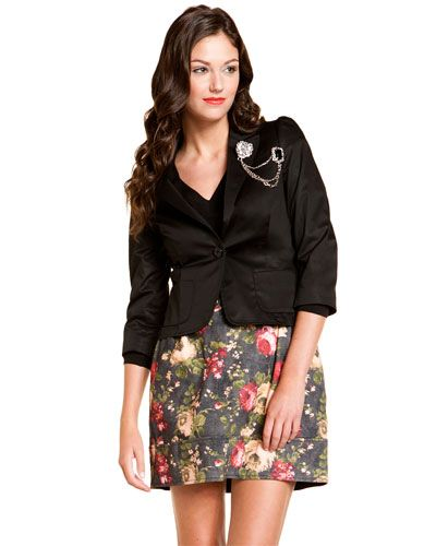 Love Moschino Black Jeweled Blazer