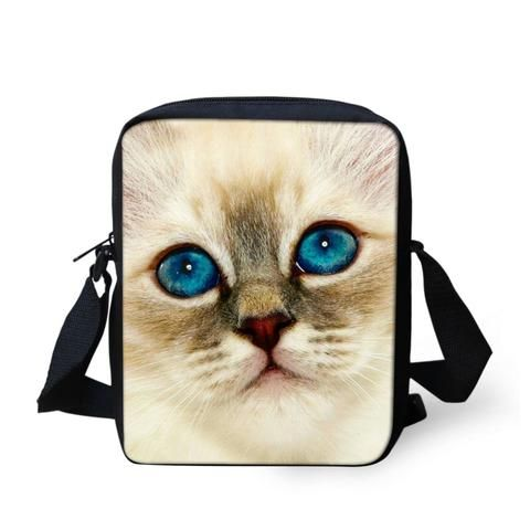 5145b6497fba Pick Your Cat Print Messenger Bags - Cats Love Life