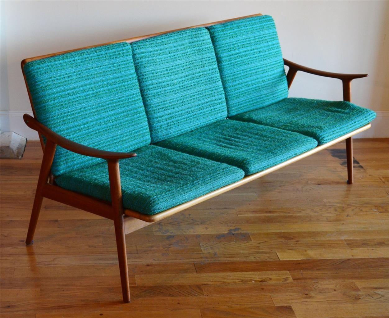 Fredrik Kayser Vatne Mobler Danish Mid Century Modern Teak Sofa Selig Eames    EBay