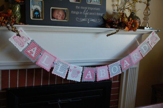 All Aboard Banner, Train Theme, Train Birthday Party, Girl Train Birthday, Choo Choo, Pink Train