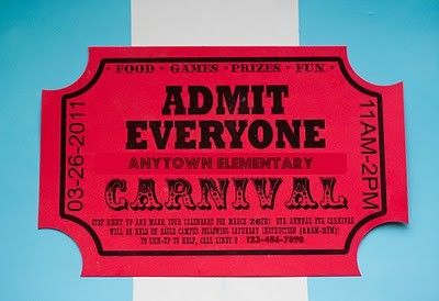 Carnival Ticket Invitation Template Free Glory Carnival Party