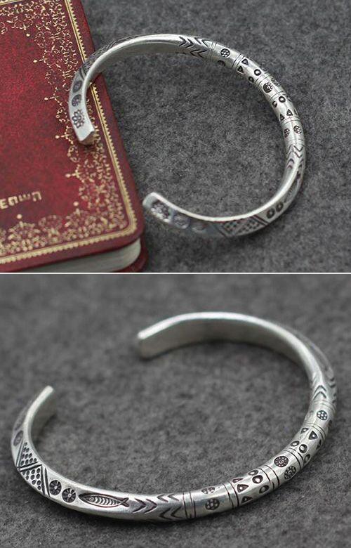 Fine Silver Handmade Cuff Bracelet Men S Silver Jewelry