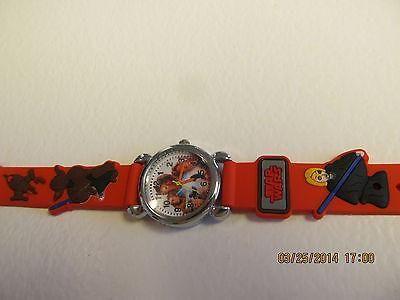 Star Wars Children Red Cartoon PVC Band Quartz Wrist watch Toy 222