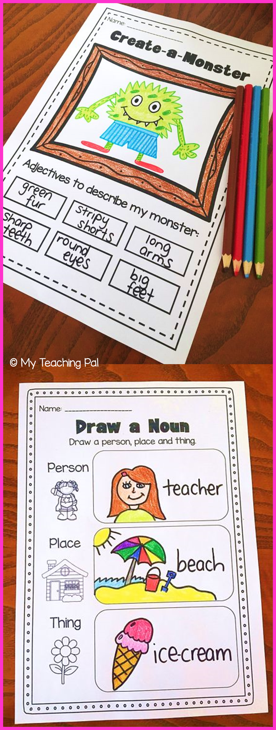 Nouns Adjectives And Verbs Worksheets It Covers