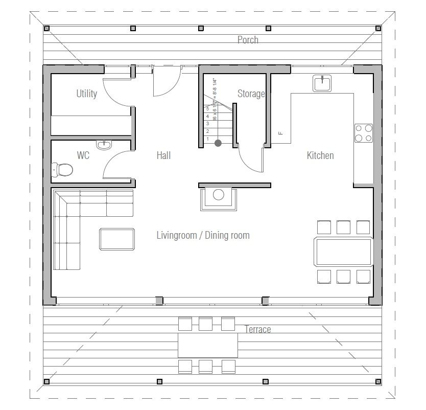 yay+  small house plan. floor plan ch187 from concepthome