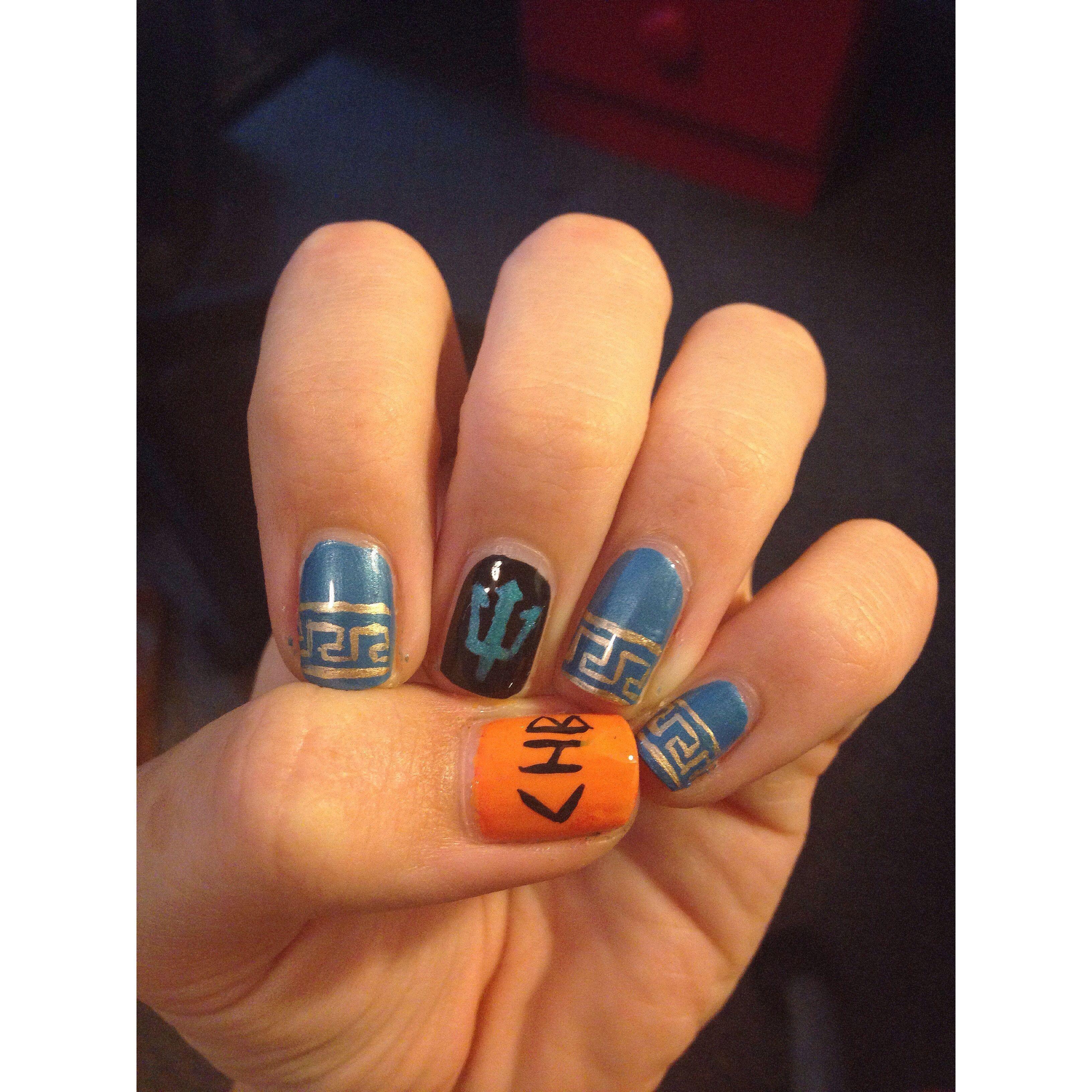 Percy Jackson nails | Nails | Pinterest | Percy jackson, Jackson and ...