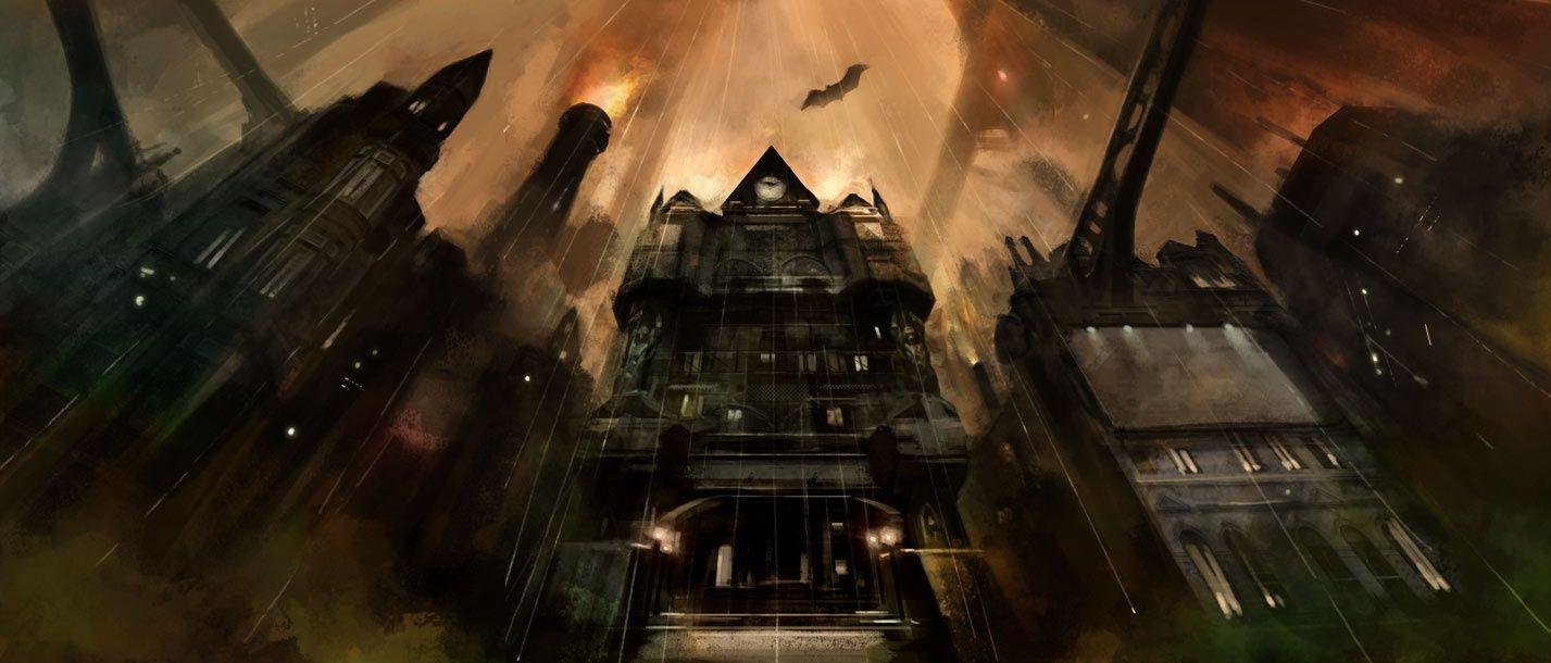 The Beautiful And Bold Concept Art Of Batman Arkham City Batman