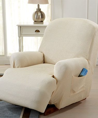 Another great find on #zulily! Ivory Savannah Recliner Slipcover #zulilyfinds