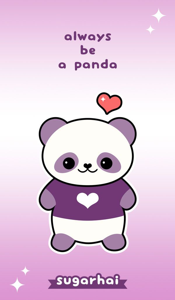 Cute Quote Always Be A Panda Panda Artwork Panda Panda Wallpapers