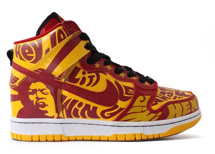 on sale 856ff 67a05 Jimmy Hendrix Experience - Custom Nike Dunk High