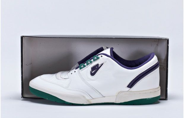 brand new 9e5e8 cc1da The Italian-made All England was as basic as you could get, an all-white  shoe with Wimbledon-appropriate purple and green ...