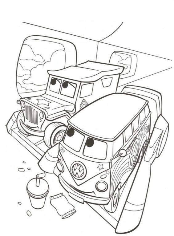 122 disegni di cars 1 e 2 da stampare e colorare nel 2020