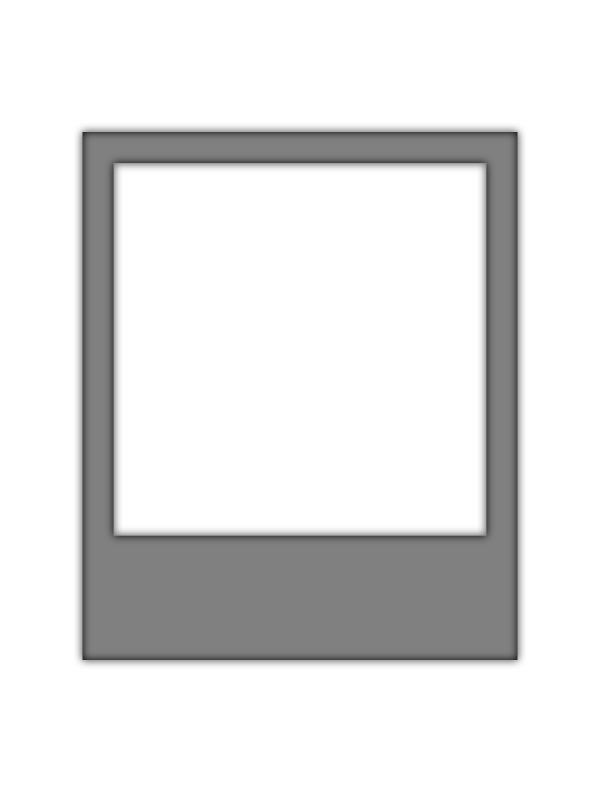 Polaroid border. A frame svg silhouette