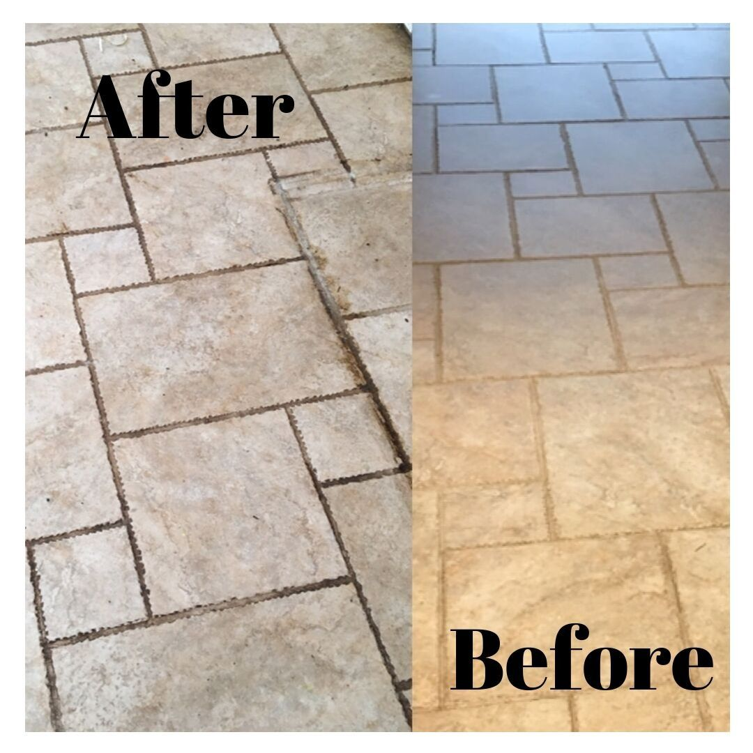 Tumbled Travertine stone Floor Floor cleaning services