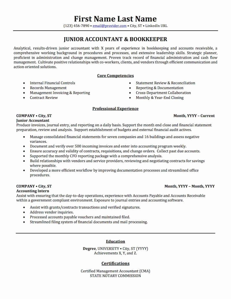 Accounting Resume Skills List™ in 2020 Accountant resume