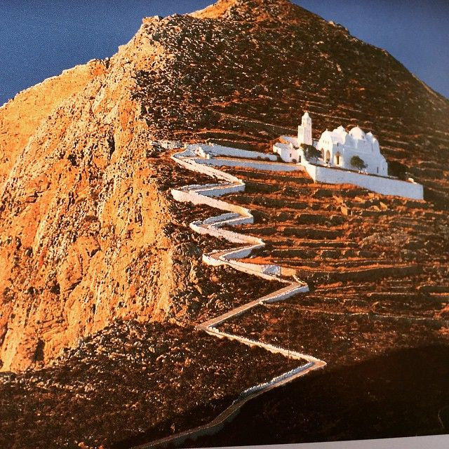The Panagia Church in Folegandros, Greece. The story goes ...