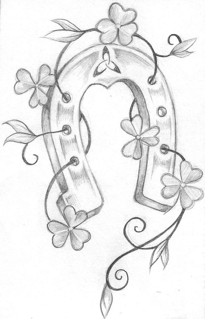 Top Horseshoe Drawing Derby Images For Pinterest Tattoos