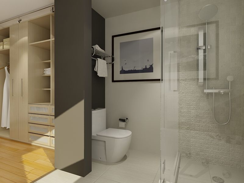 Walk In Closet And Bathroom Ideas Photo 1 Bathroom Closet Designs Apartment Bathroom Design Open Plan Bathrooms