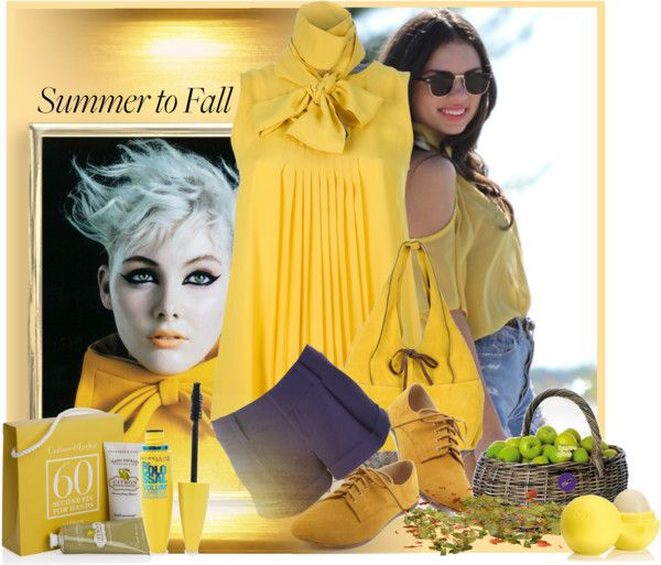 """""""Summer to Fall: Shorts"""" by lotoss ❤ liked on Polyvore"""