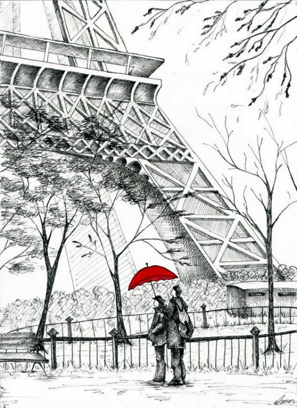 70 Easy And Beautiful Eiffel Tower Drawing And Sketches Eifel 3