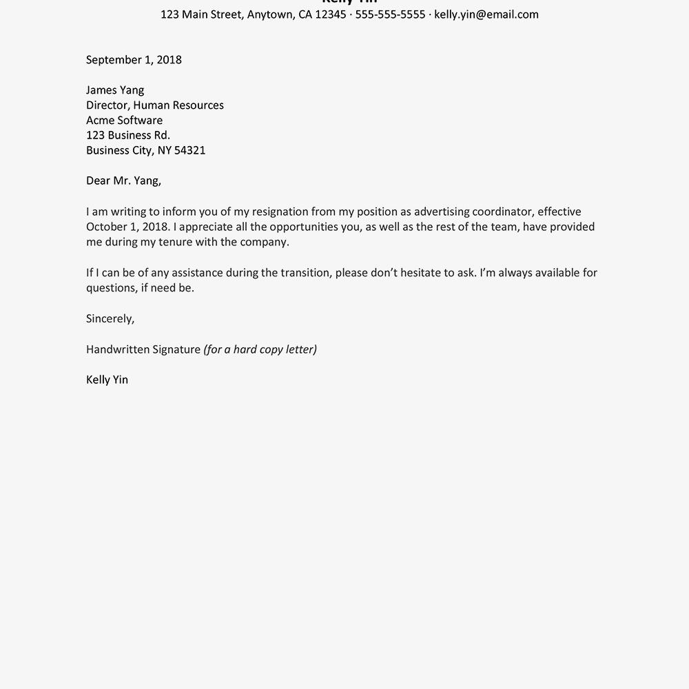 Word Resumeplates Free New Weeks Notice Letter Resignation