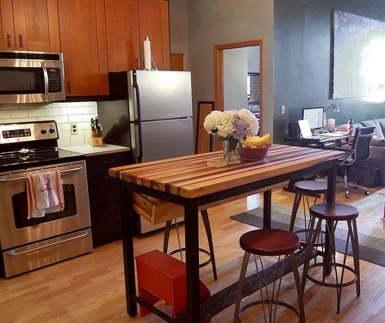 Butcher Block Dining Table For Small Kitchen