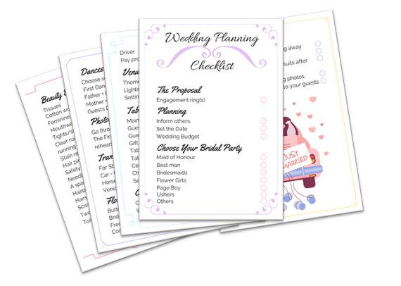Wedding Planning Checklist Digital Wedding Checklist Wedding