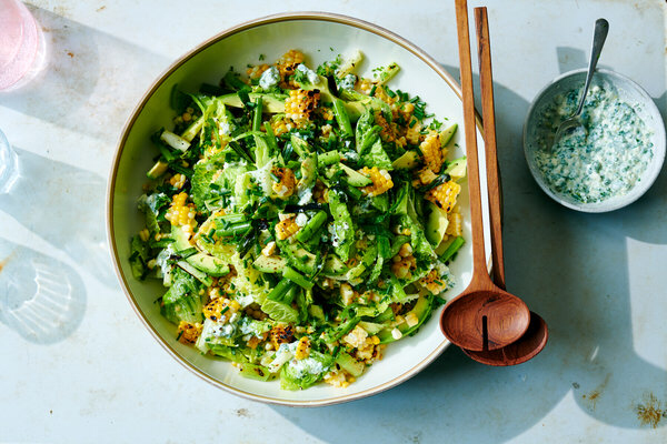 Grilled Corn And Avocado Salad With Feta Dressing Recipe Recipe Grilled Corn Feta Dressing Recipe Avocado Salad