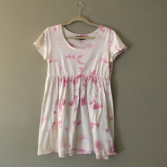 Tie Dye UO Dress Urban Outfitters Bycorpus Tie Dye Dresss in pink. They don't make these anymore. Worn by me and another posher previous to me. Still in good condition. Fits XS or S Urban Outfitters Dresses Mini