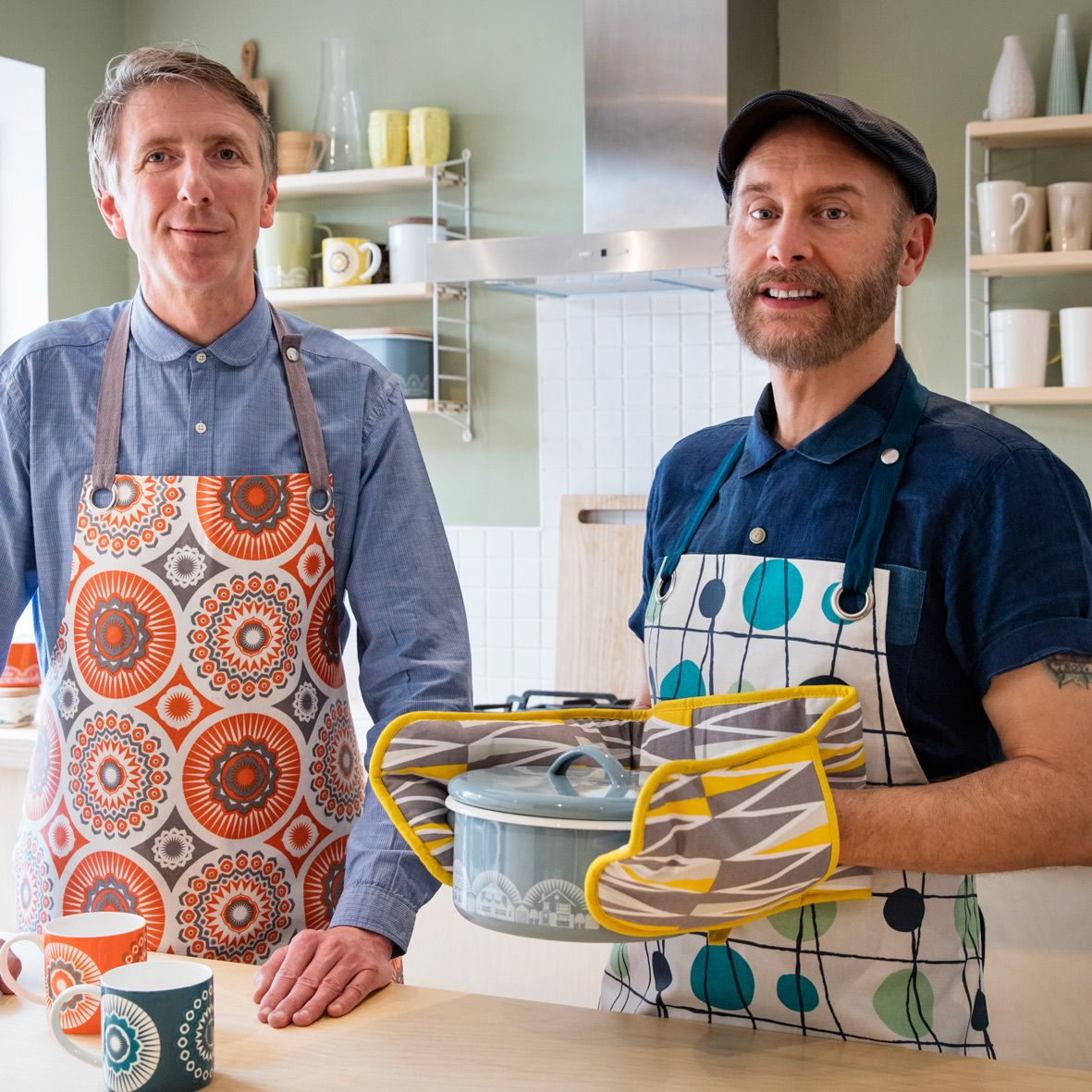 Mini Moderns Mark & Keith with their new collection of