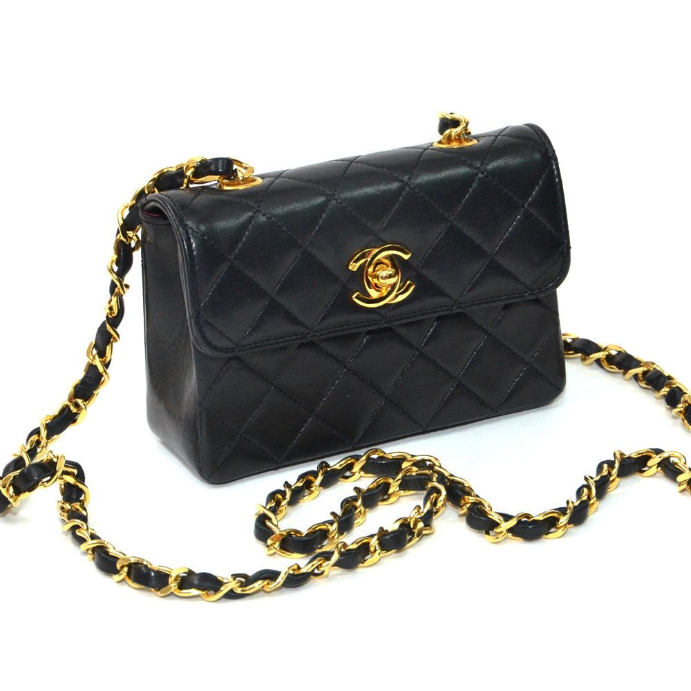a28ca1d9f074 Chanel Mini Flap Bag with Gold Hardware | Shop Vintage Contessa ...